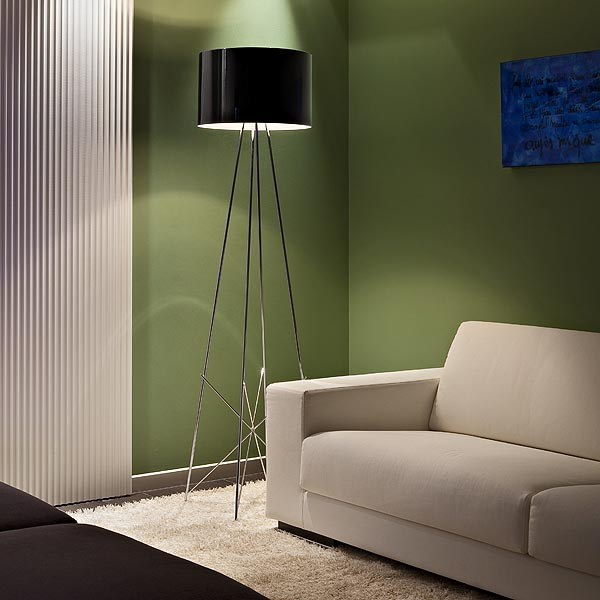 Chrome Plated Floor Lamp Ray F Consumer Floor Collection