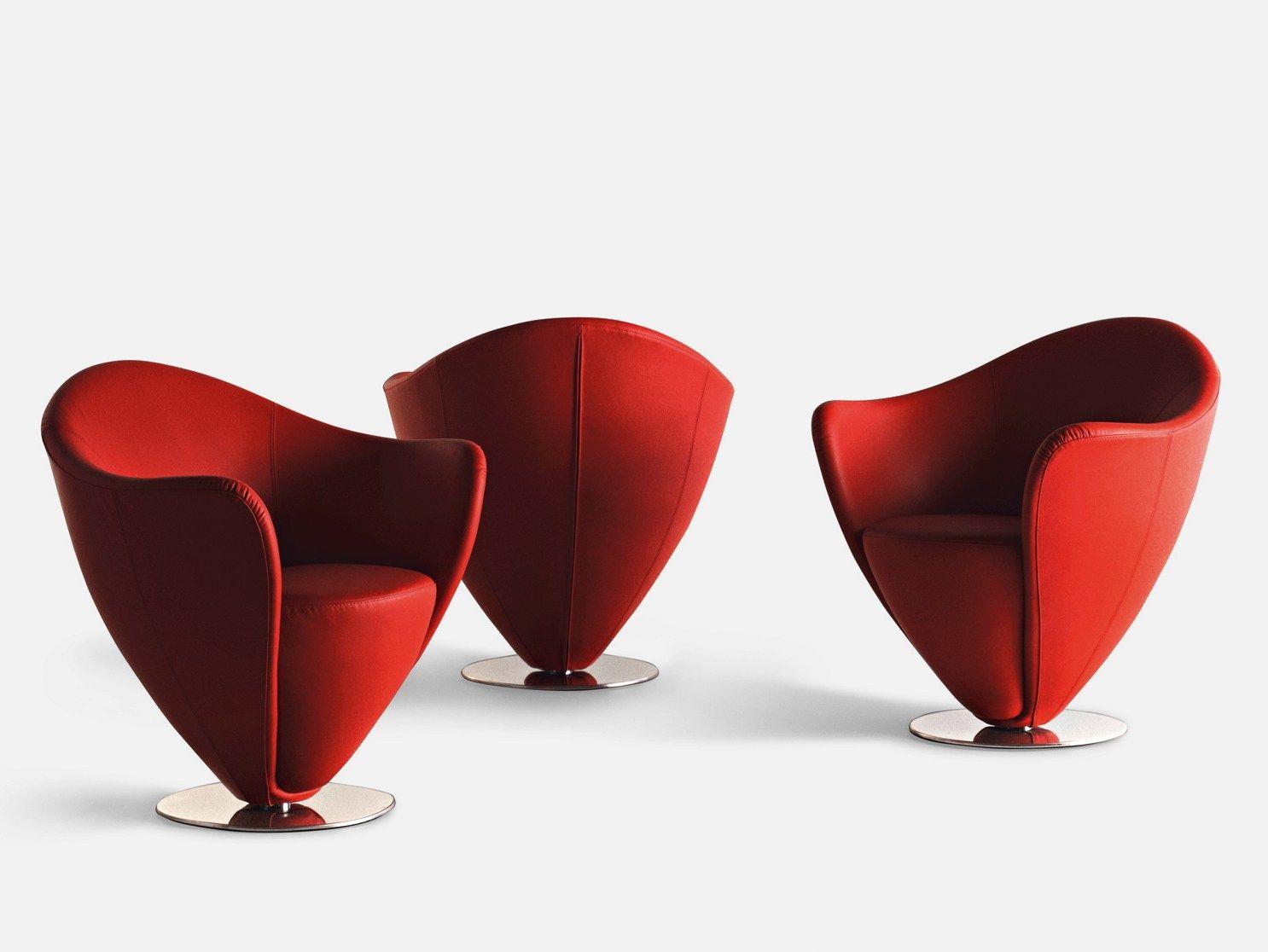 Fauteuil pivotant rembourr en cuir mon petit coeur by la cividina design pet - Petit fauteuil en cuir ...