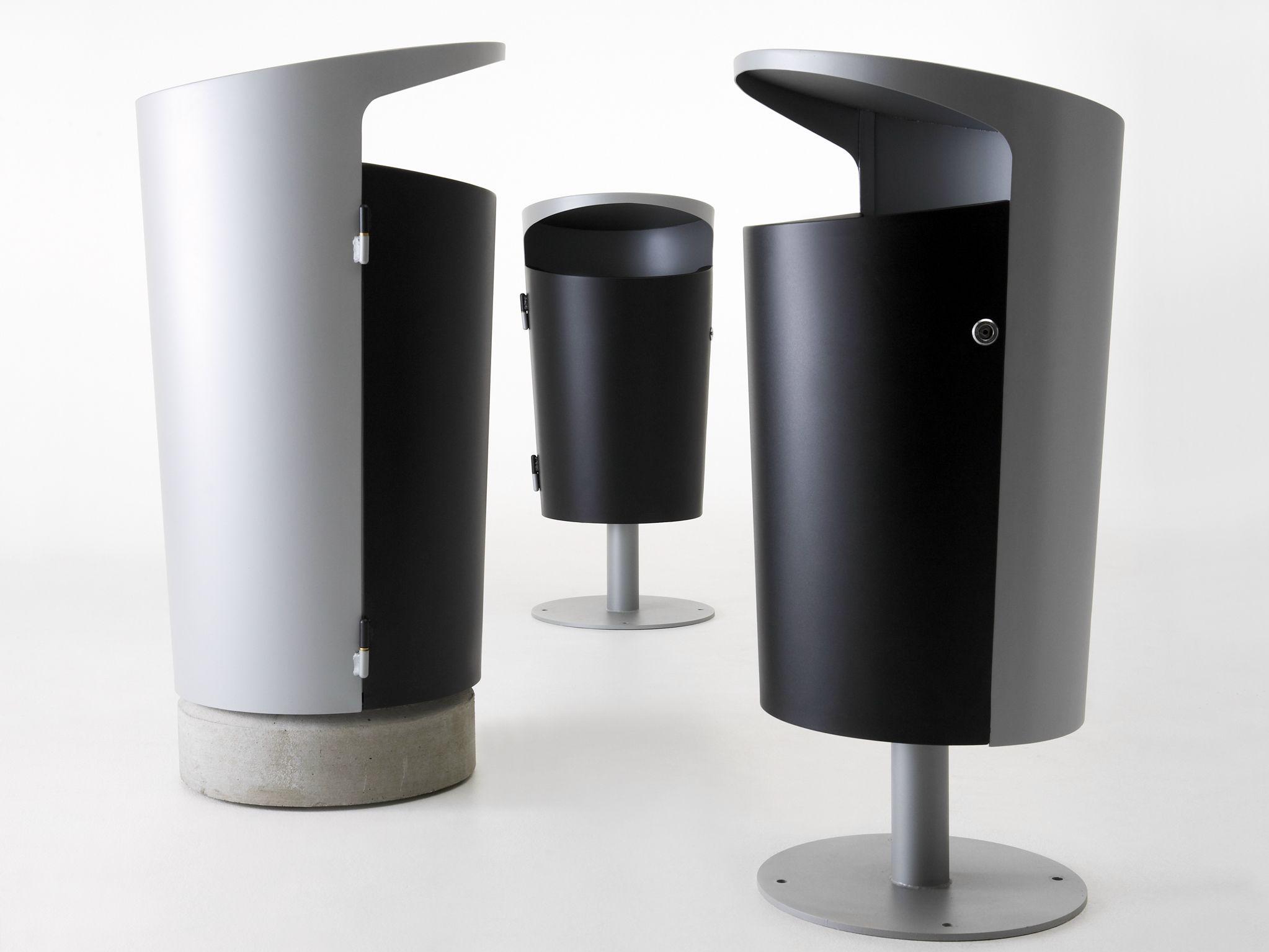 Powder coated steel waste bin elbin by nola industrier - How to decorate a dustbin ...