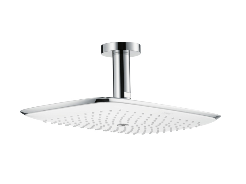 puravida ceiling mounted overhead shower by hansgrohe. Black Bedroom Furniture Sets. Home Design Ideas