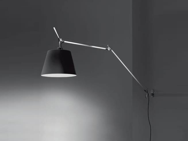 Lampada a parete con braccio clara con braccio flessibile