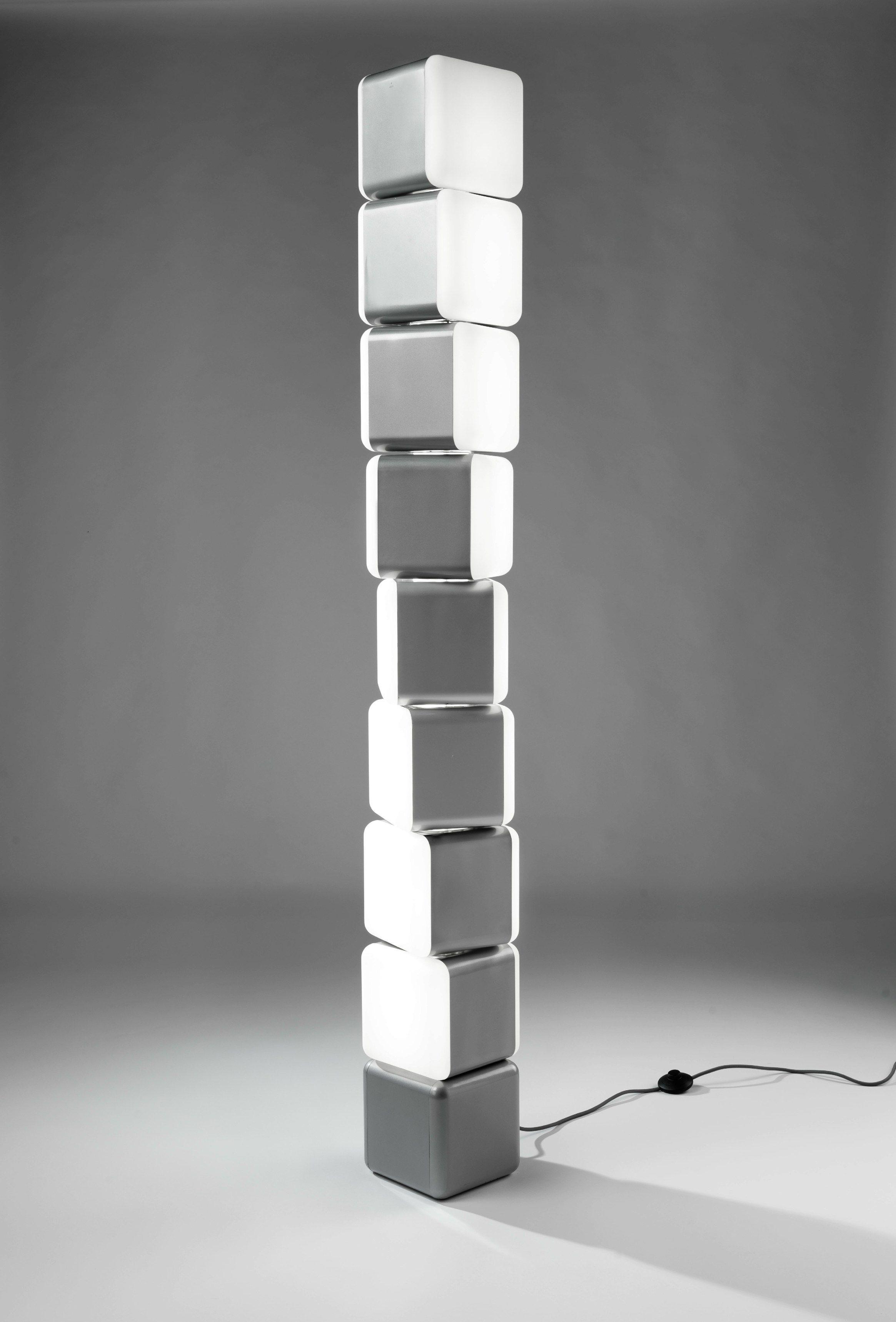 indirect light floor lamp kubik leds c4. Black Bedroom Furniture Sets. Home Design Ideas