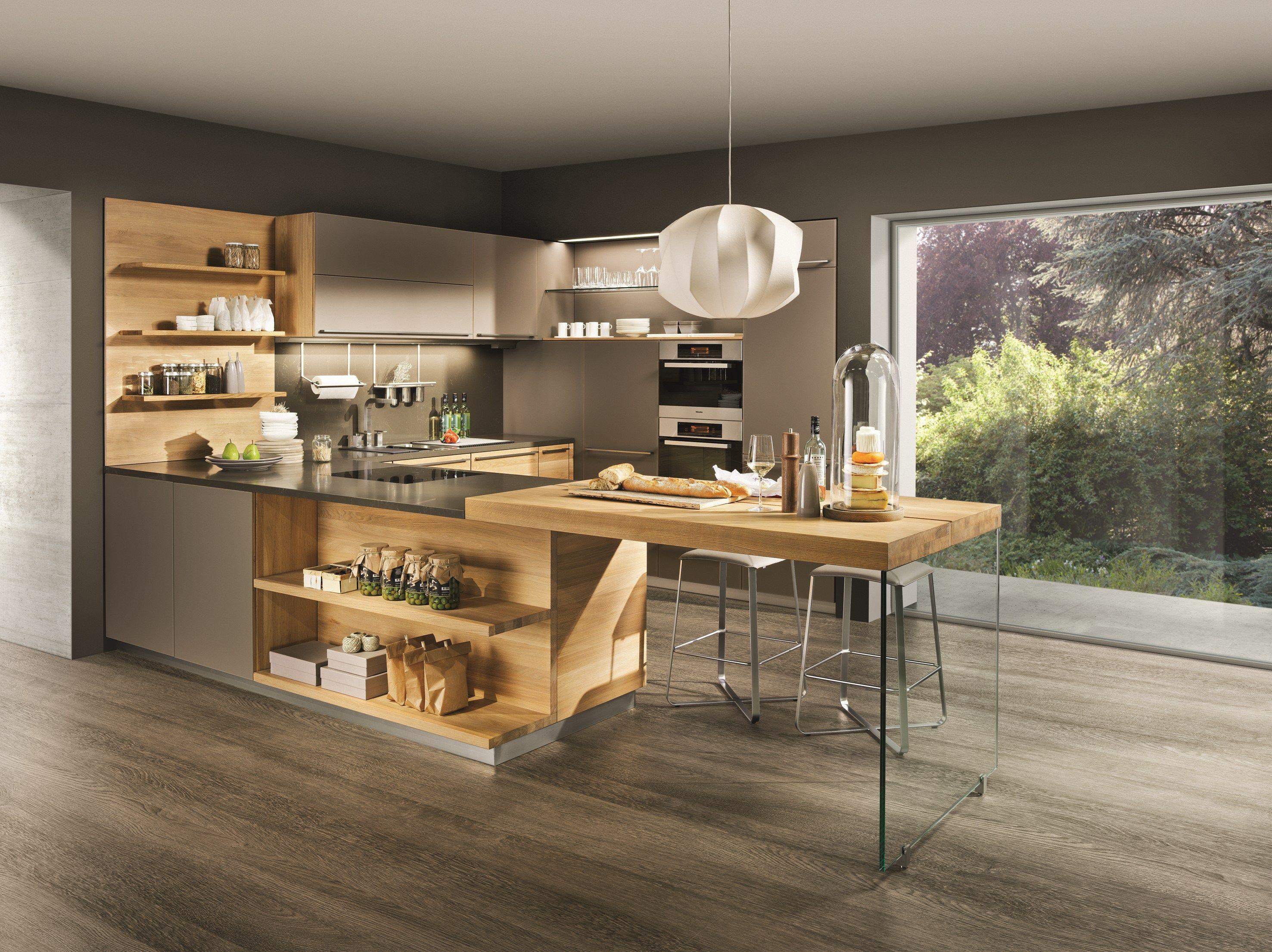 Cuisine int gr e en bois massif linee by team 7 nat rlich for Cuisine integree bois