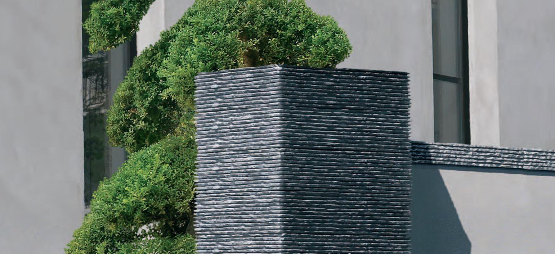 Pillar for gate cisel by orsol for Finition exterieur