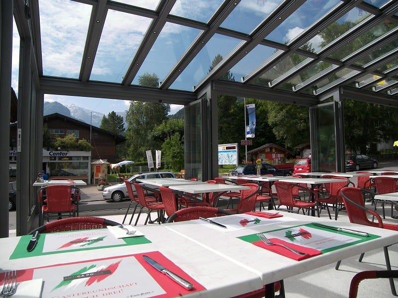 Abri de terrasse en aluminium sunroof copertura mobile by frubau - Abris de terrasse en alu ...