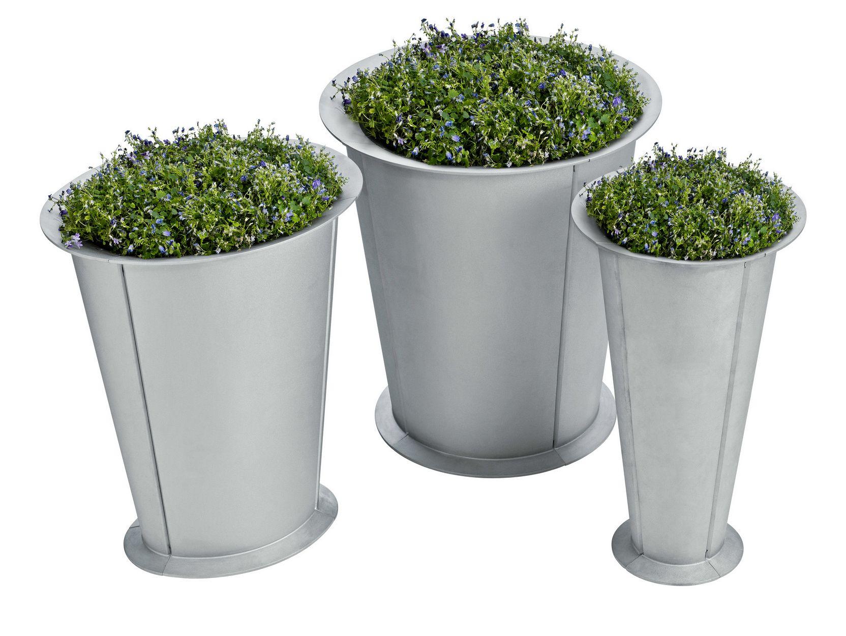 Aluminium flower pot segment by nola industrier design for Flower pots design images