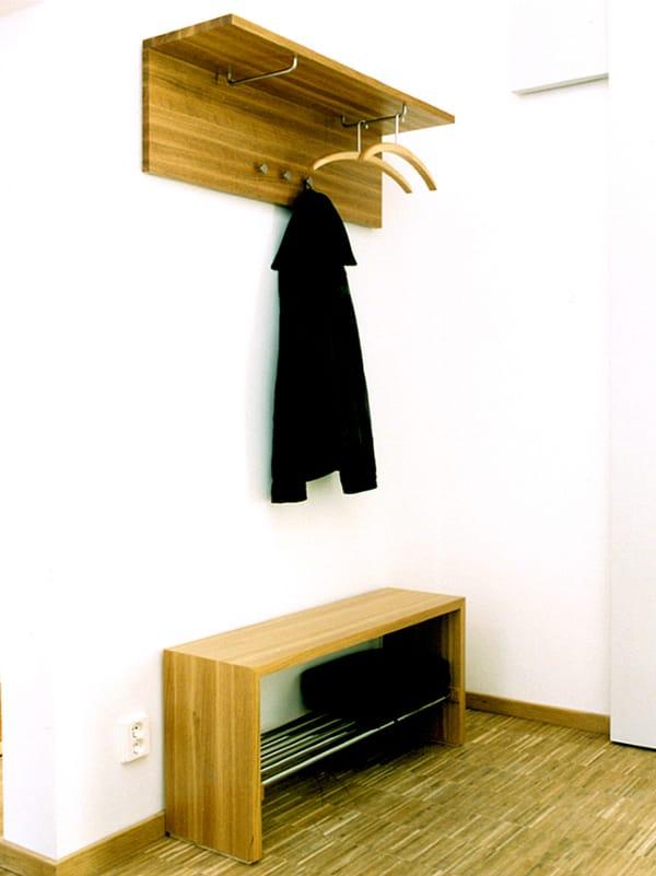 Wall mounted wooden coat rack ARK Coat rack Nola