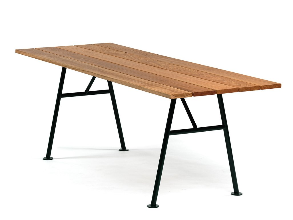 Aln n table de jardin by nola industrier design thomas - Table de jardin en bois pliante ...