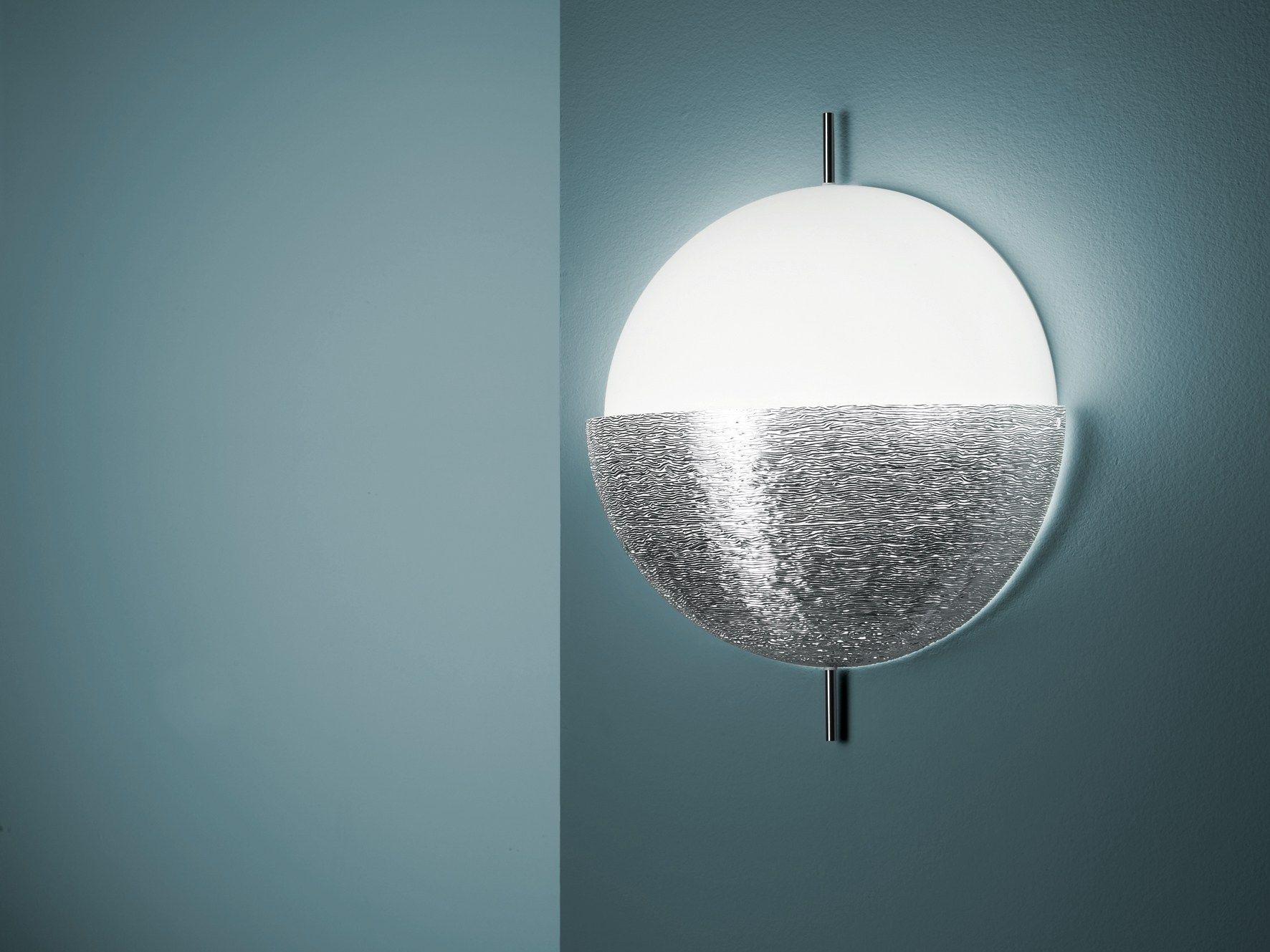 applique murale en verre souffl collection chignon by fontanaarte design piero russi. Black Bedroom Furniture Sets. Home Design Ideas