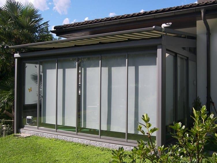cr auvent en aluminium by frubau. Black Bedroom Furniture Sets. Home Design Ideas