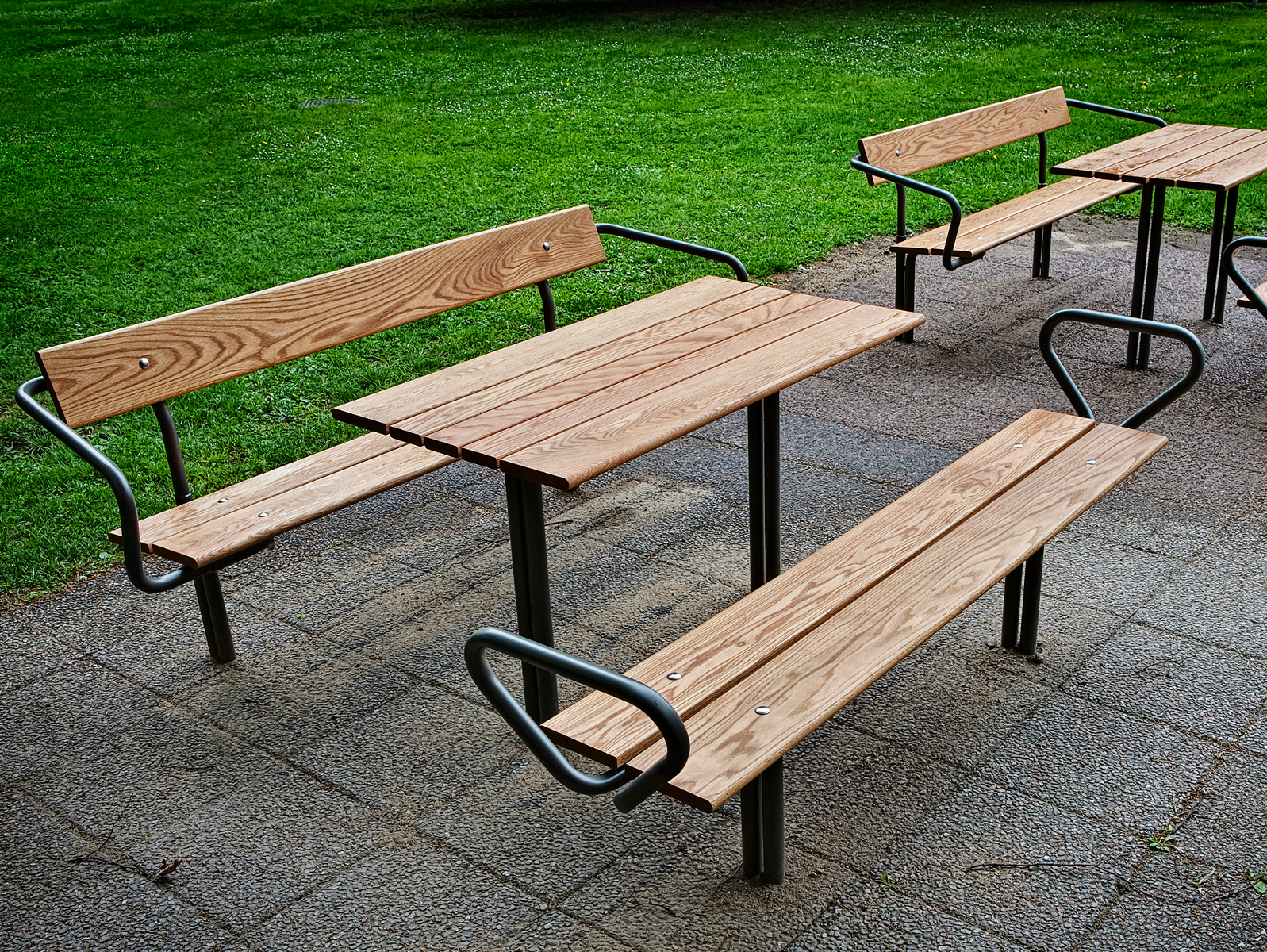 Amazing photo of  steel and wood Bench BUDGET Backless Bench Nola Industrier with #347018 color and 1597x1200 pixels