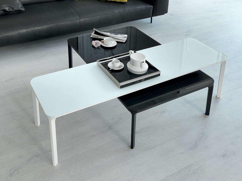 54982 Slim Round Steel Coffee Table Slim Coffee Table