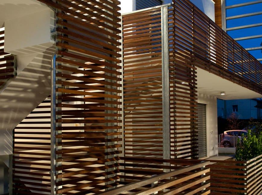 Wood panel for facade brise soleil by ravaioli legnami
