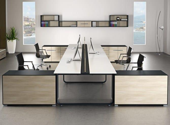 escritorio de oficina modular operativo elly by tecnitalia
