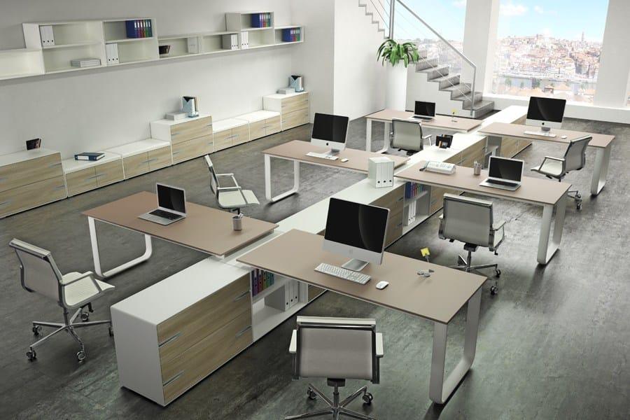 Escritorio de oficina modular operativo elly by tecnitalia for Oficina escritorio