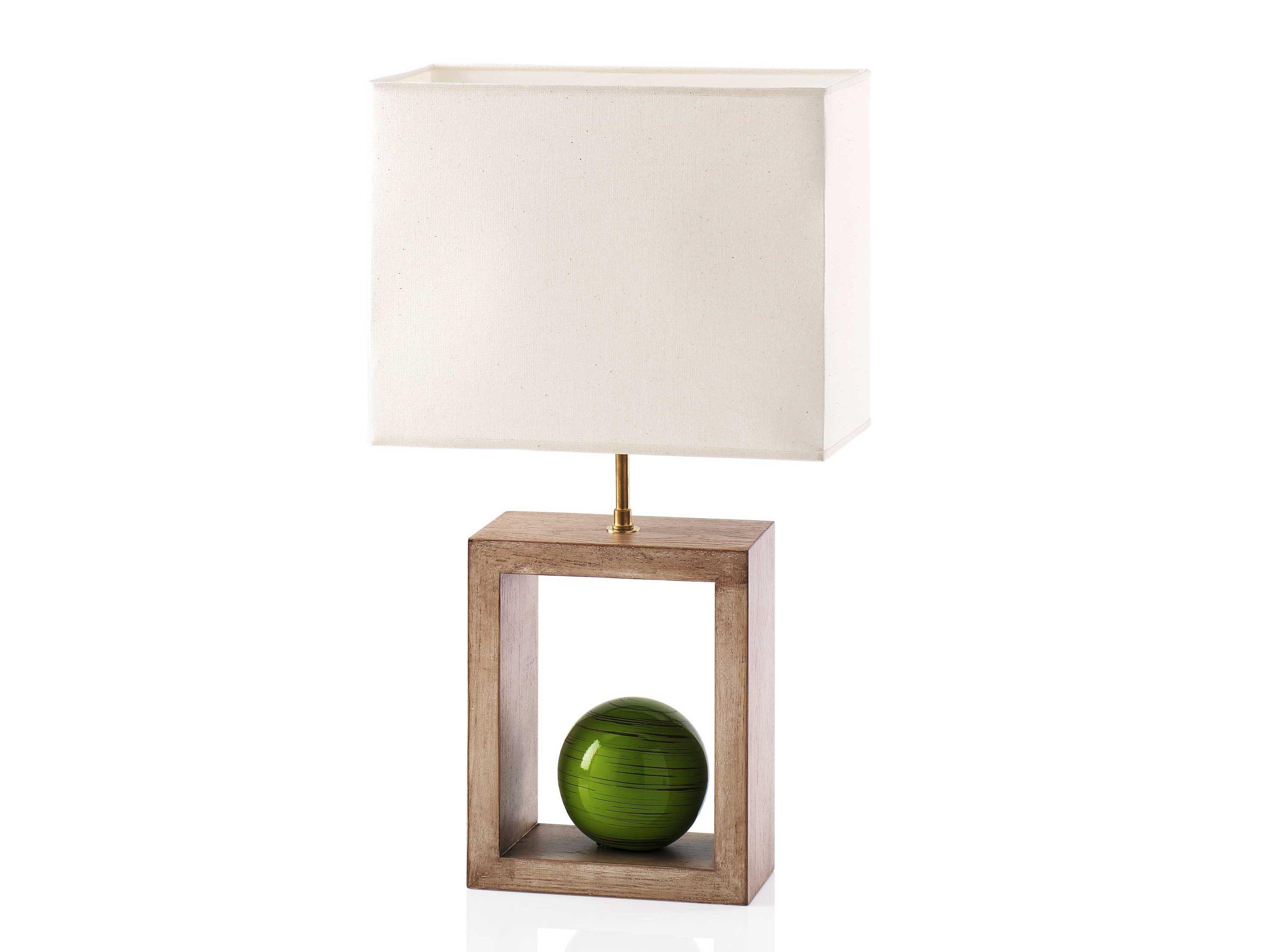 Lampada da tavolo in ceramica e legno BAMBOO by ENVY