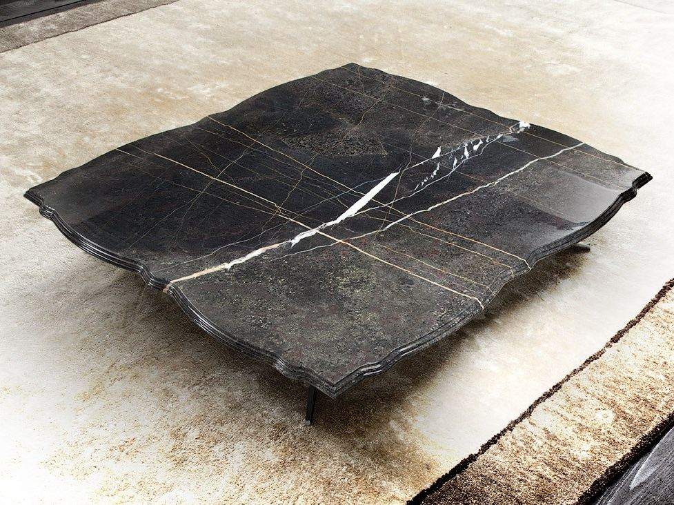 Table basse rectangulaire en marbre de salon rock coco by - Table en marbre rectangulaire ...