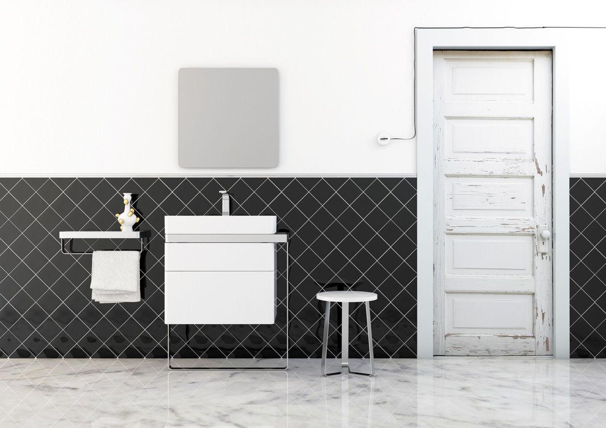 Mueble bajo lavabo simple con cajones colecci n structure - Mueble bajo lavabo con pedestal ...