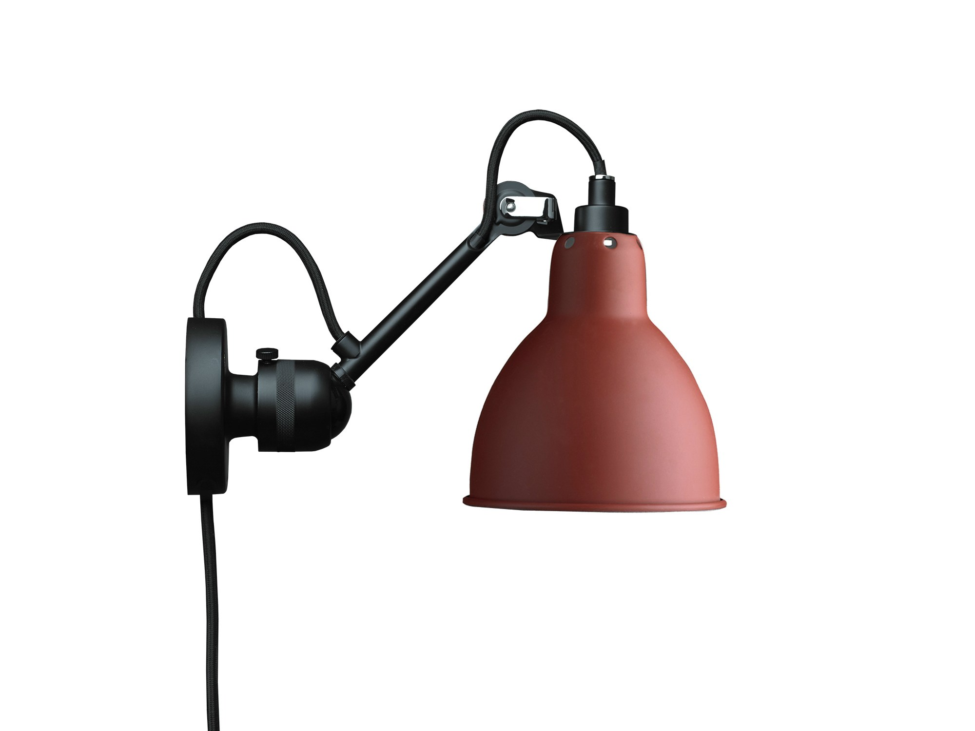adjustable wall lamp with swing arm n 304ca lampe gras collection by dcw ditions design. Black Bedroom Furniture Sets. Home Design Ideas