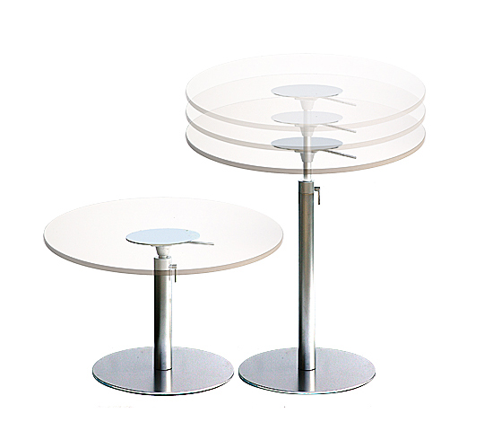 Brio table ronde by lapalma design romano marcato Table d appoint reglable en hauteur