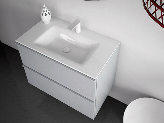 vasque sous plan en verre tremp collection strato by inbani design inbani. Black Bedroom Furniture Sets. Home Design Ideas