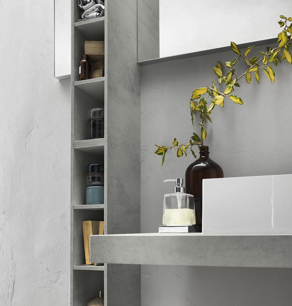 Meuble pour salle de bain meuble sous vasque progetto for Meuble pour collection