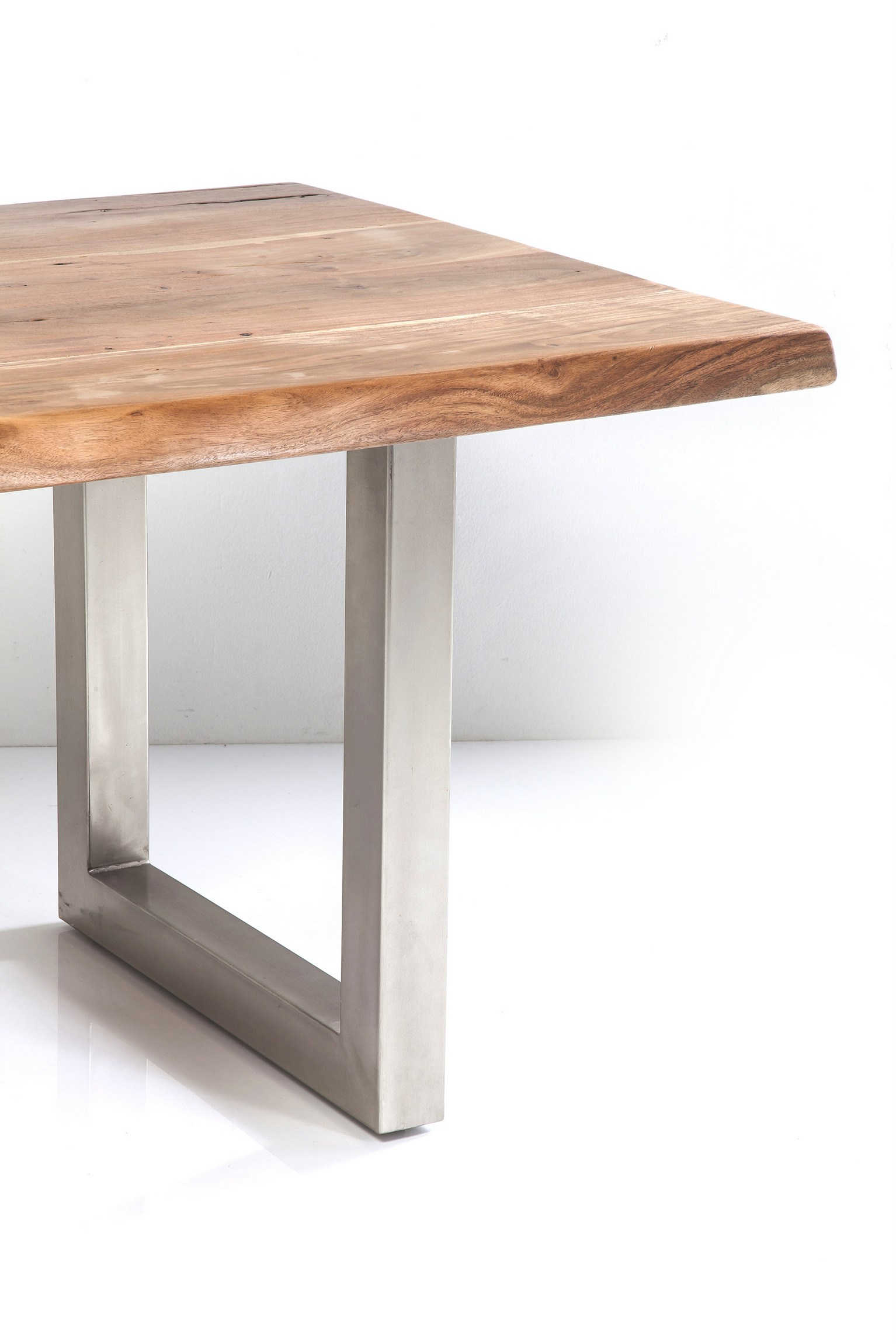 Rectangular Steel And Wood Table Pure Nature By Kare Design