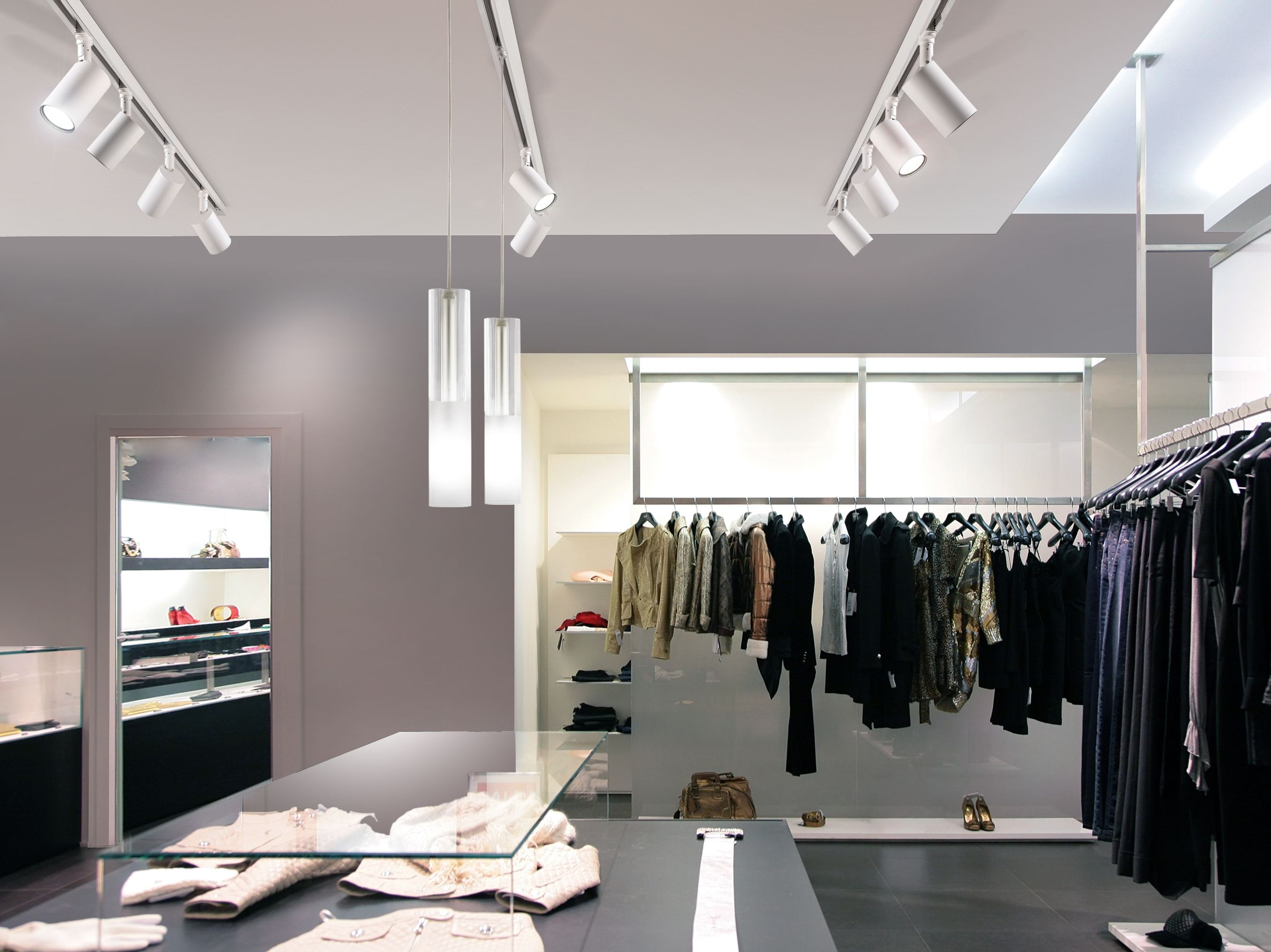 LED swivel extruded aluminium track-light QUEENS SPOT Queens Collection by PANZERI