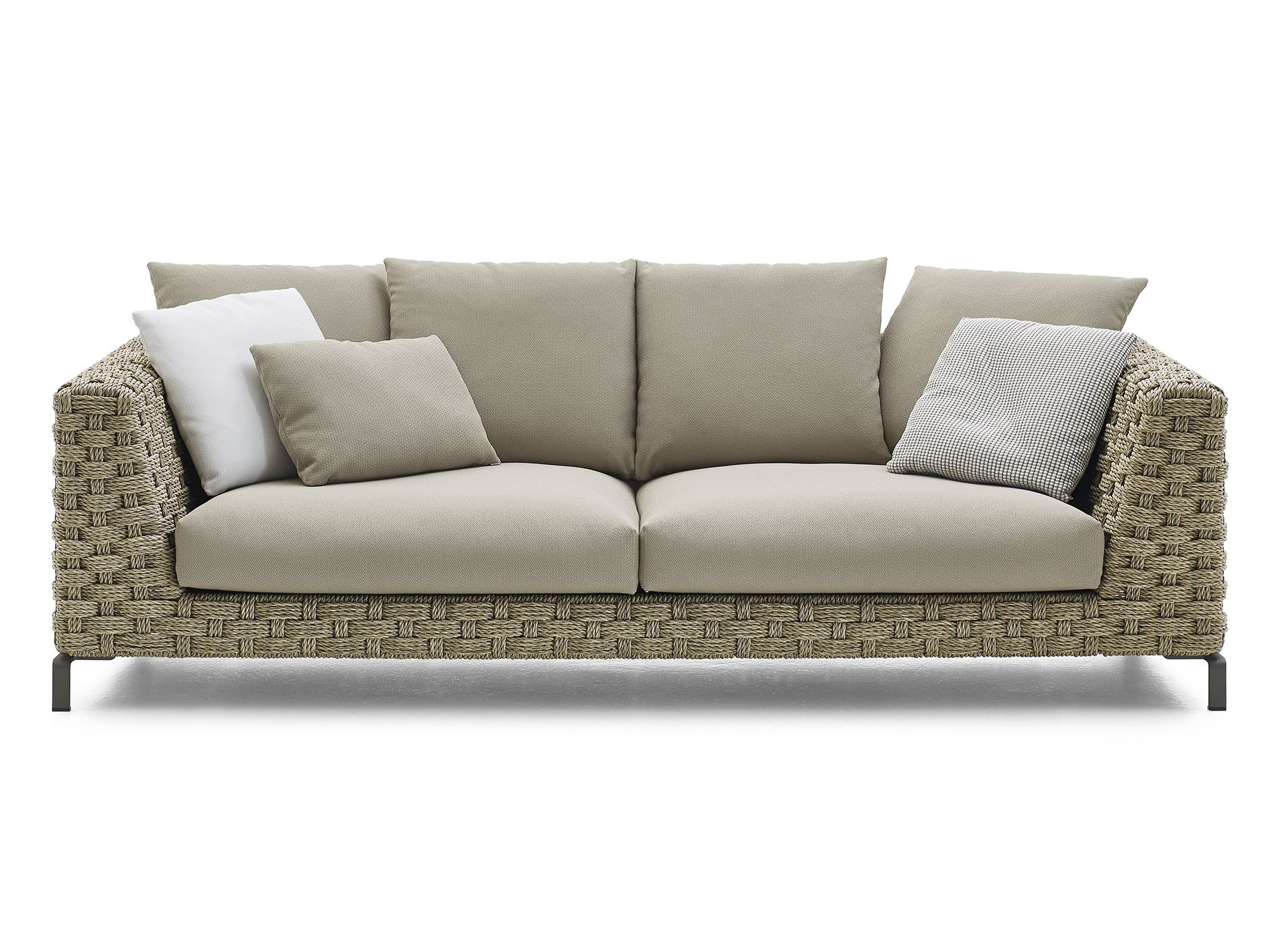 Ray outdoor natural canap collection ray outdoor by b b for B b italia outdoor