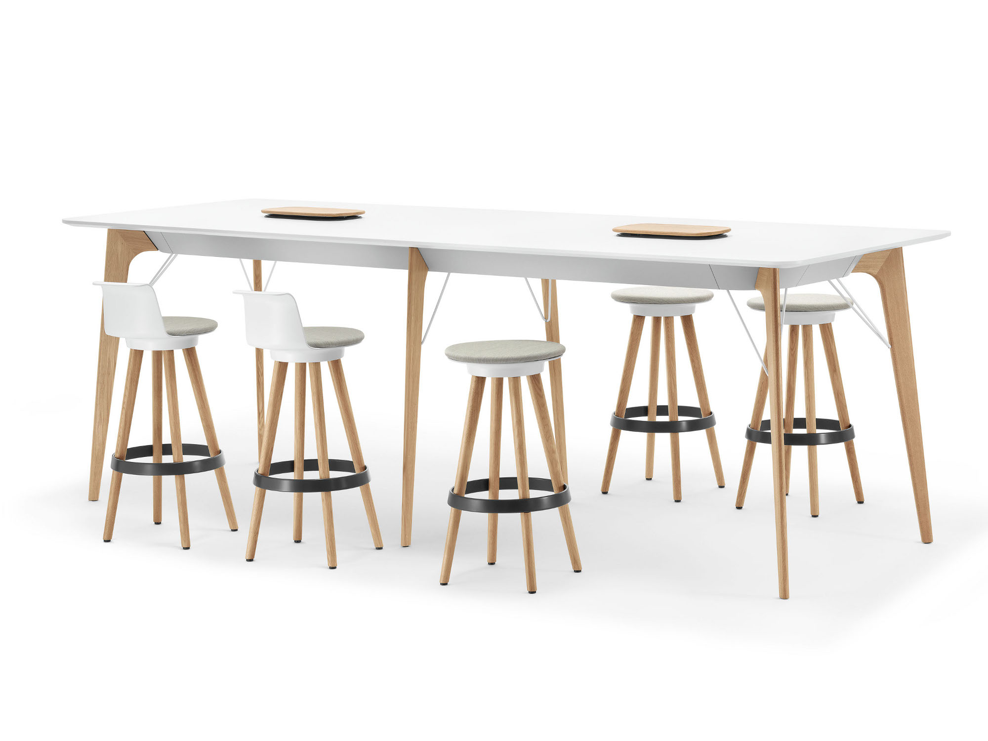 Timba table rectangular meeting table timba collection by bene for Table th html