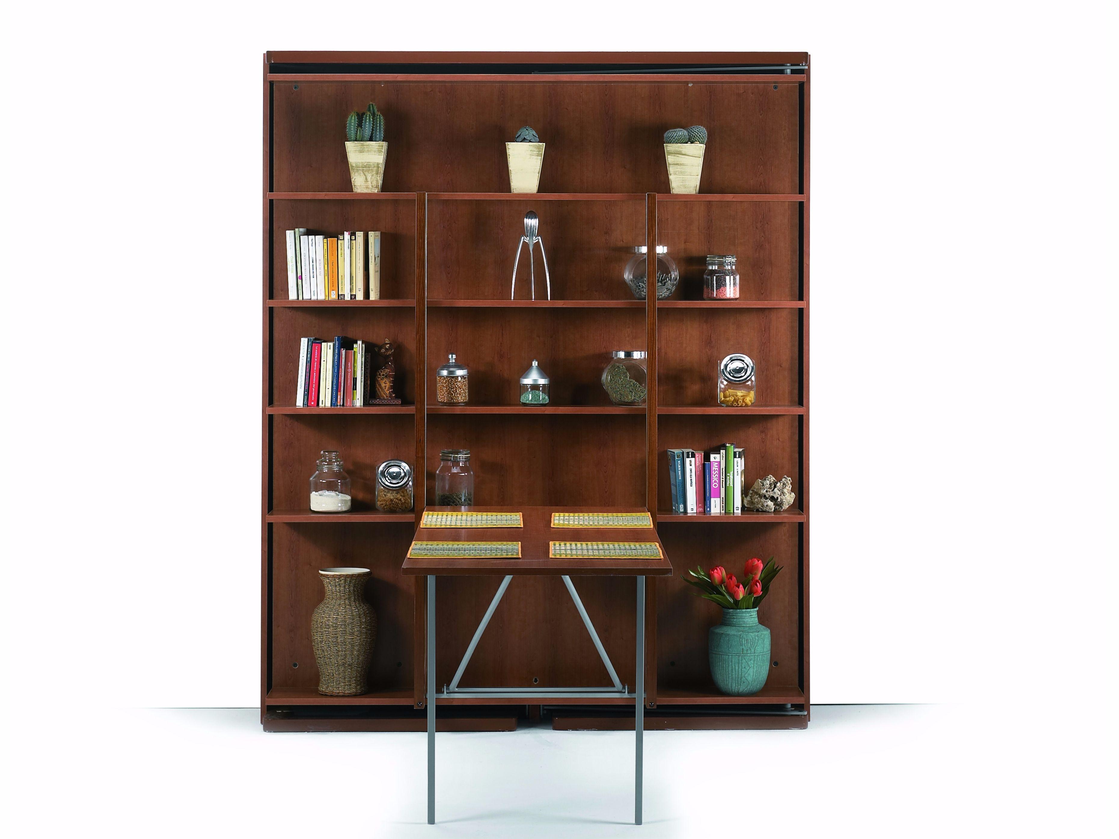 Libreria girevole con letto a scomparsa letto matrimoniale - Libreria letto a scomparsa ...