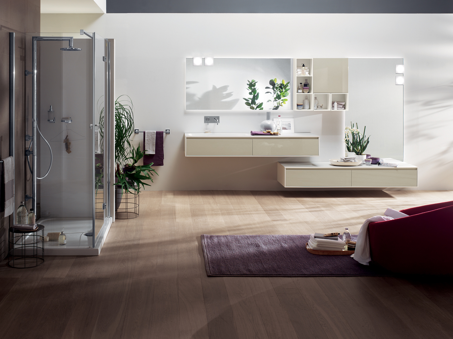 Arredo bagno completo rivo by scavolini bathrooms design for Bagno grande