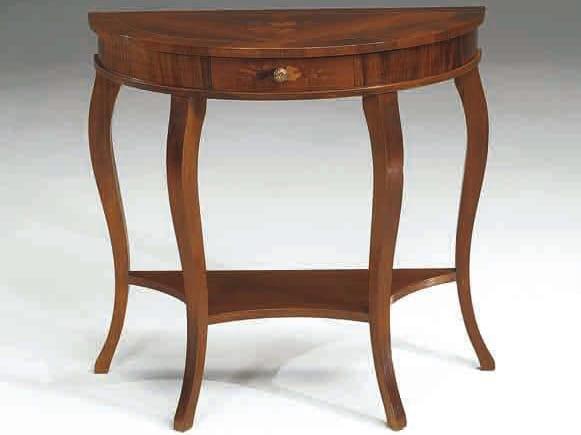 Mesa consola media luna de madera maciza RODI Colección Canaletto ...