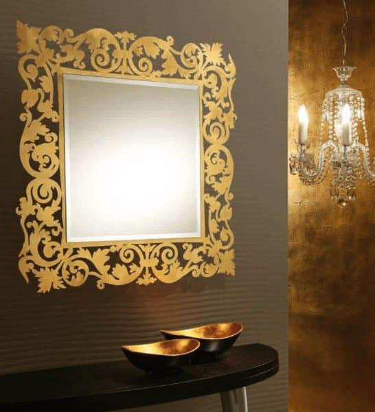 Specchio a parete con cornice romantico specchio quadrato - Specchio romantico riflessi prezzo ...
