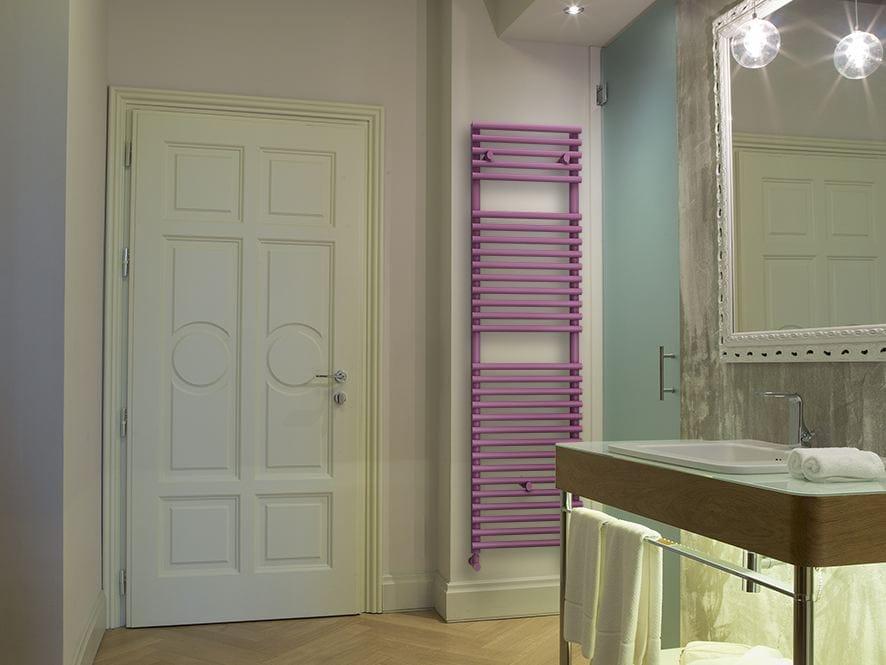 Scaldasalviette verticale in acciaio a parete round s - Radiatori a parete prezzi ...