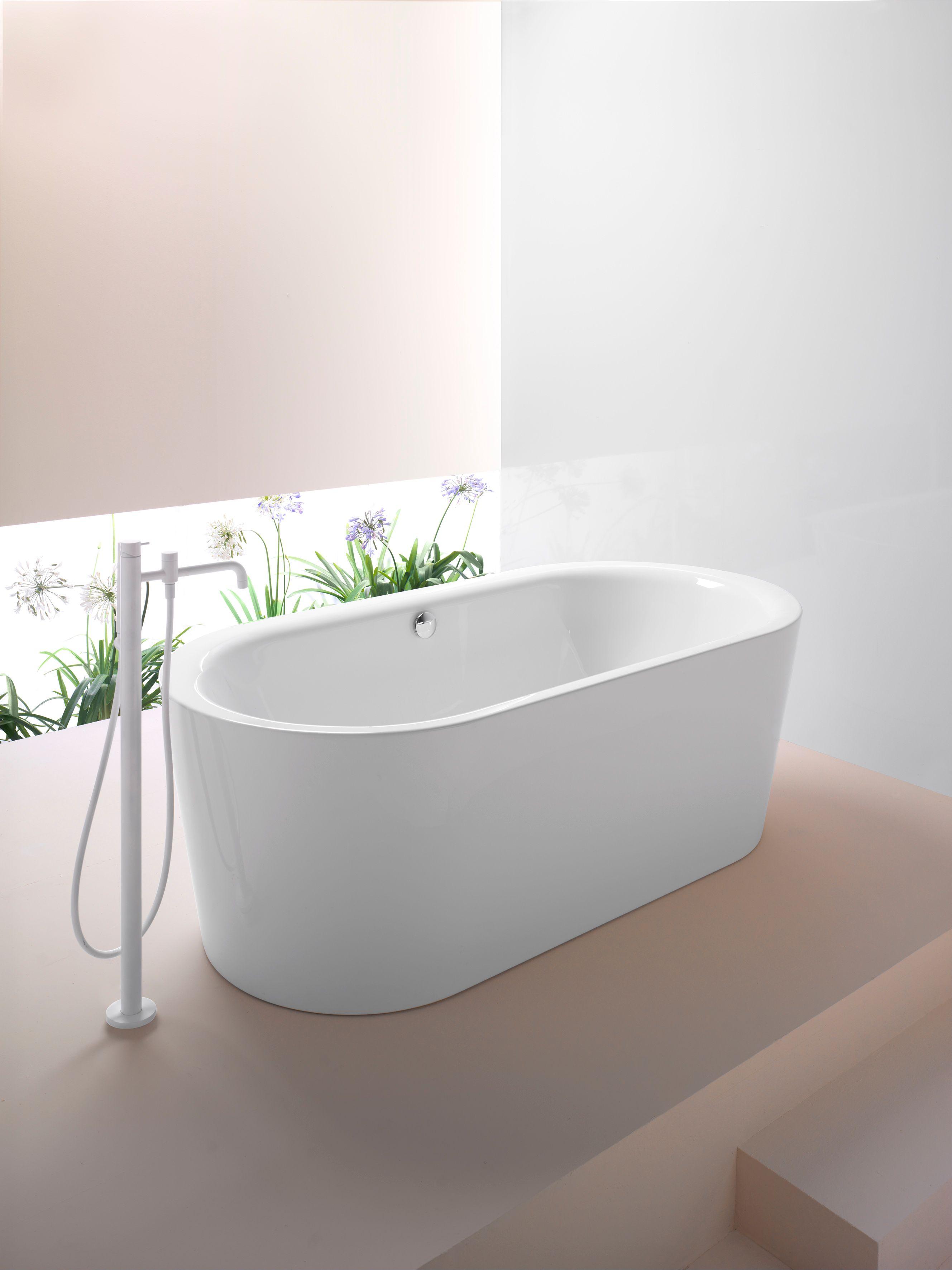 Sand 185 vasca da bagno collezione sand by gsi ceramica - Vasca da bagno ceramica ...