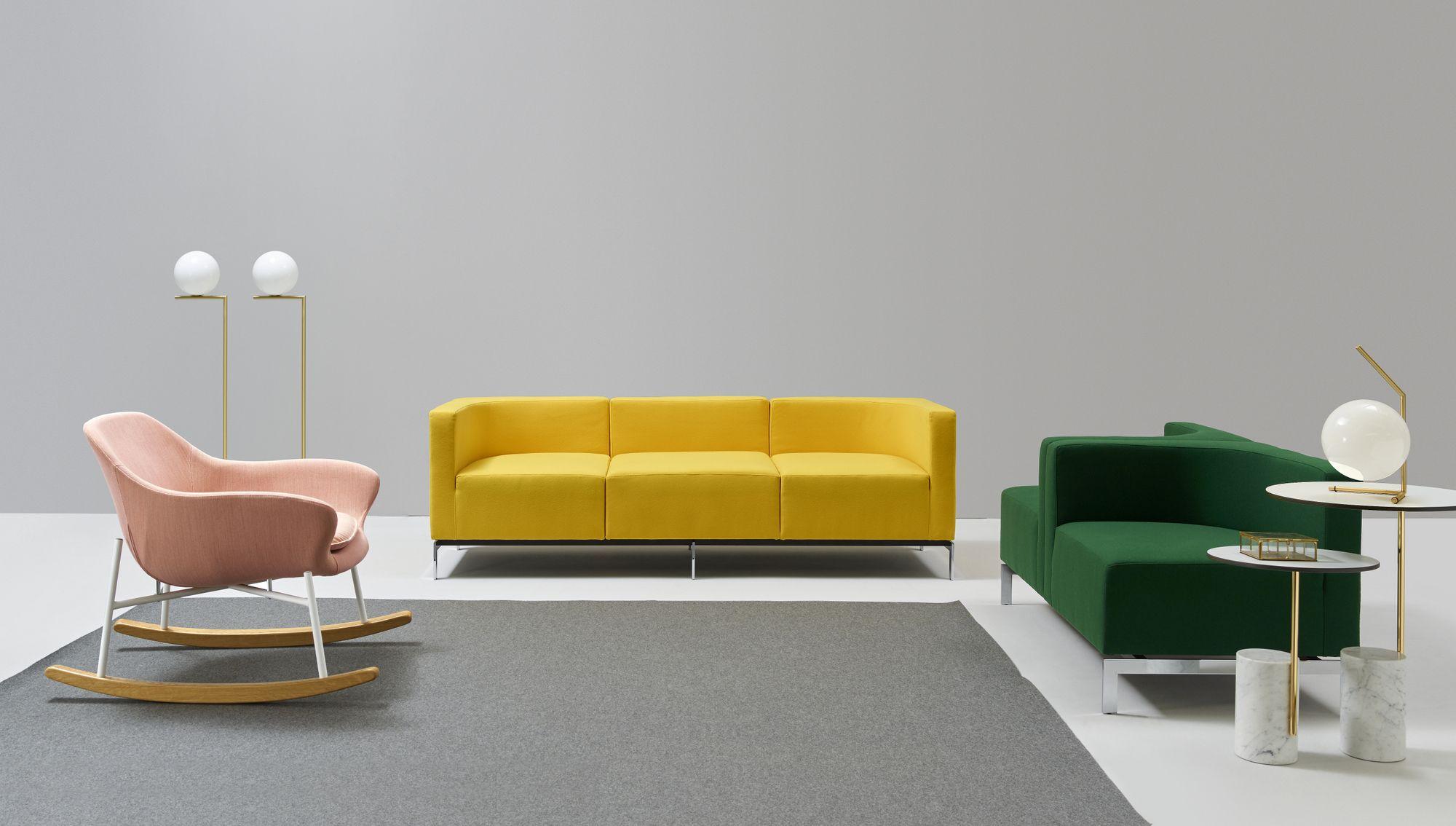 Divano Poltrona Scoop Imbottito Tessuto : Hub divano componibile collezione by quinti sedute