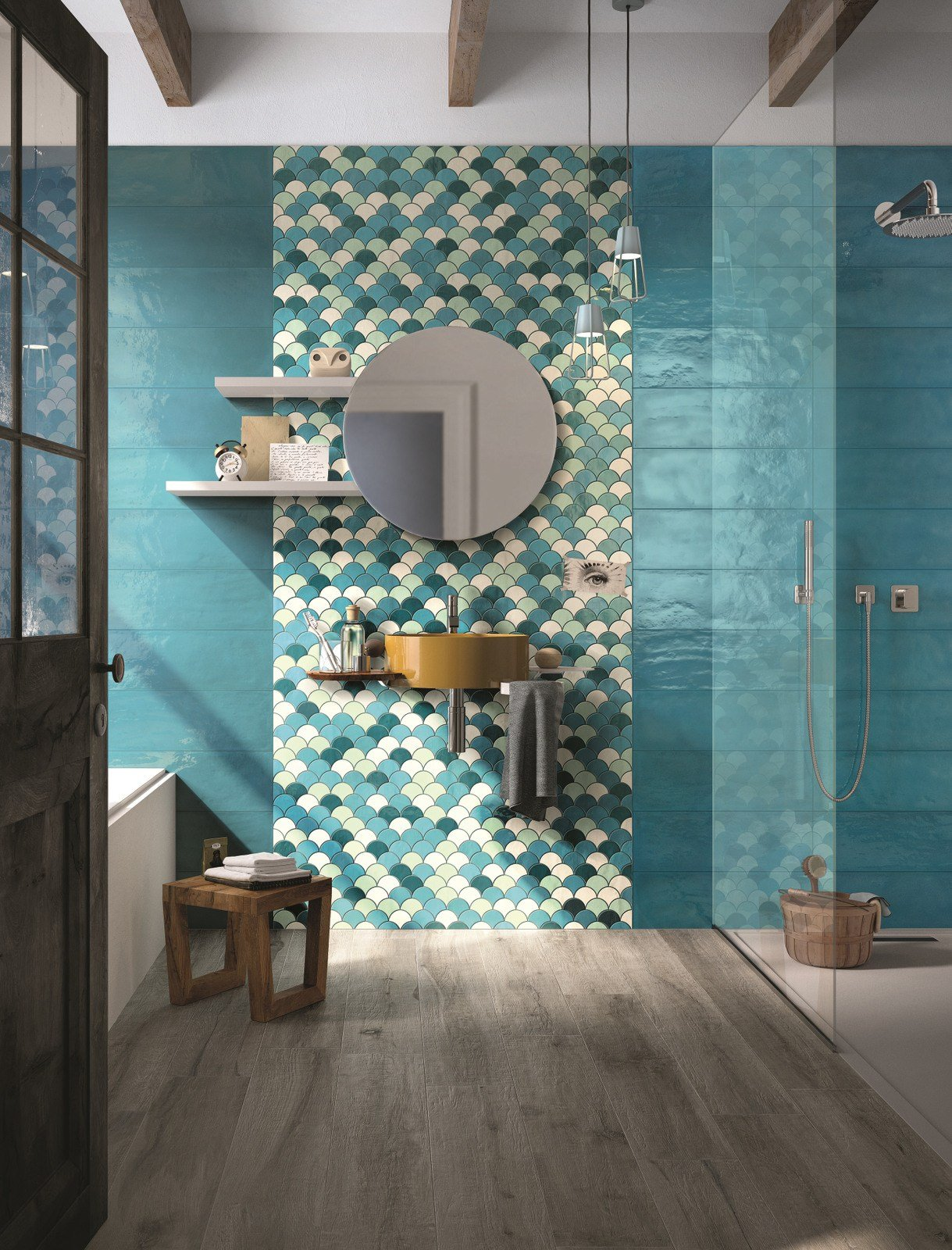 Double fired ceramic wall tiles shades by cooperativa for Carrelage imola ceramica