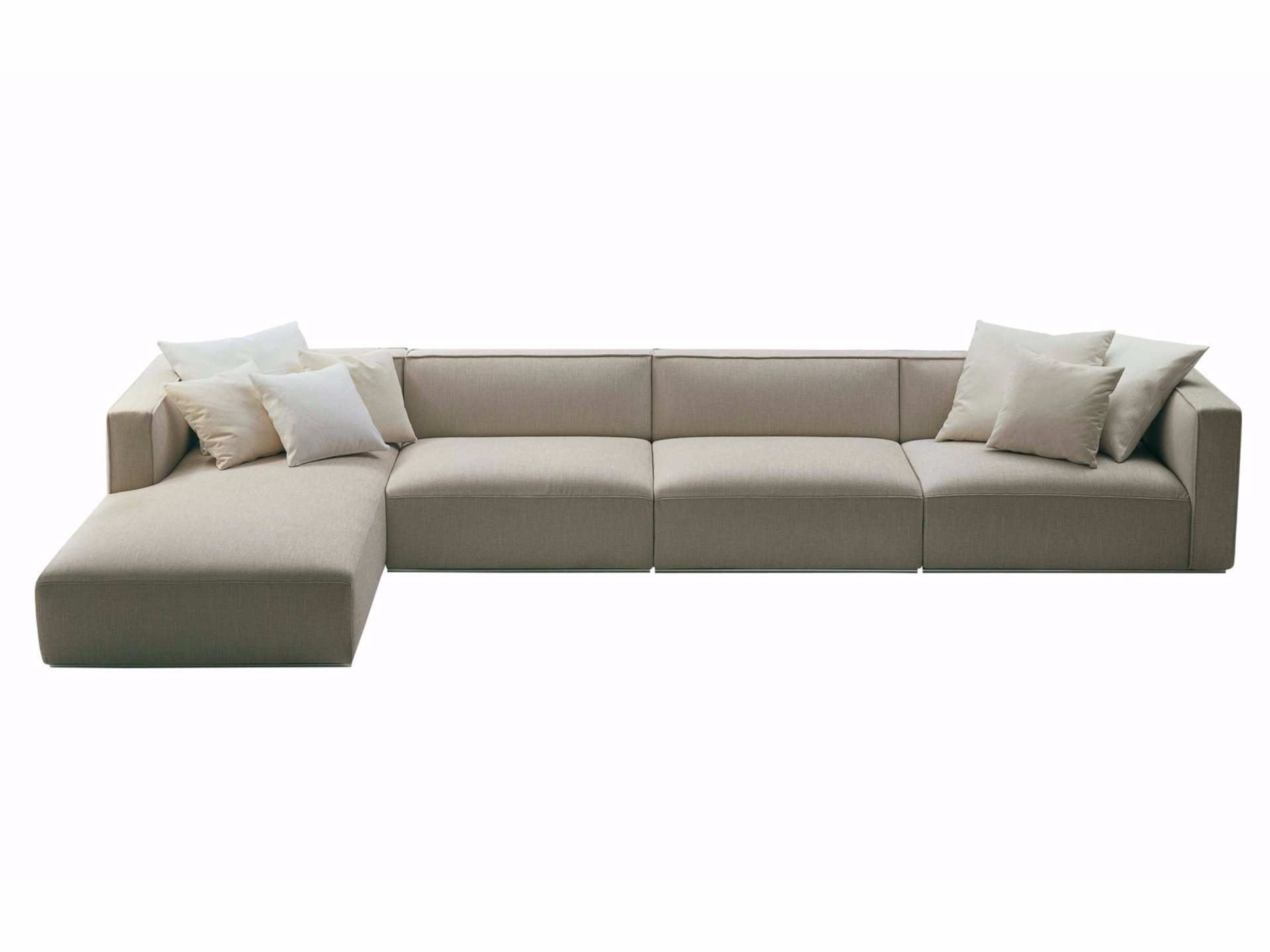 Shangai sofa with chaise longue shangai collection by for Chaise longue furniture