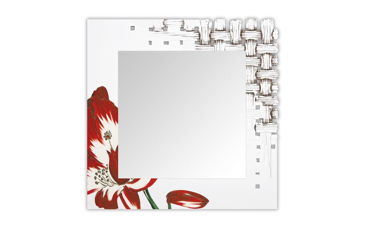 Specchio quadrato a parete con cornice SI-075Q-SP Specchio - L.A.S.
