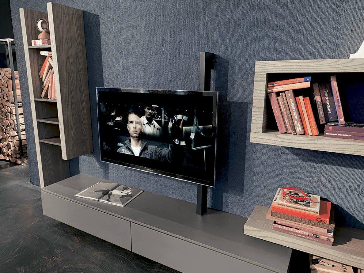 Parete attrezzata con porta tv SIDE 8 by Fimar