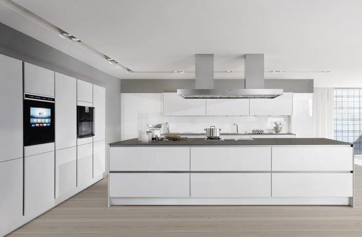 cucina ad isola con gola laccata opaca siematic pure s2 by siematic. Black Bedroom Furniture Sets. Home Design Ideas