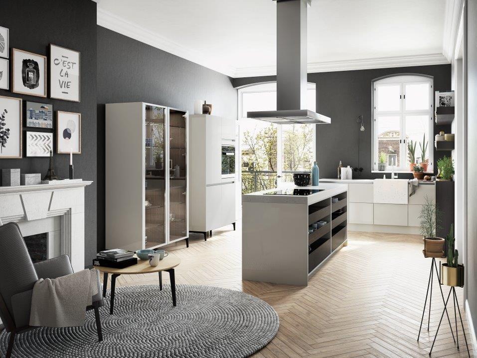 cucina senza maniglie con lavello in pietra siematic urban  s se, Disegni interni