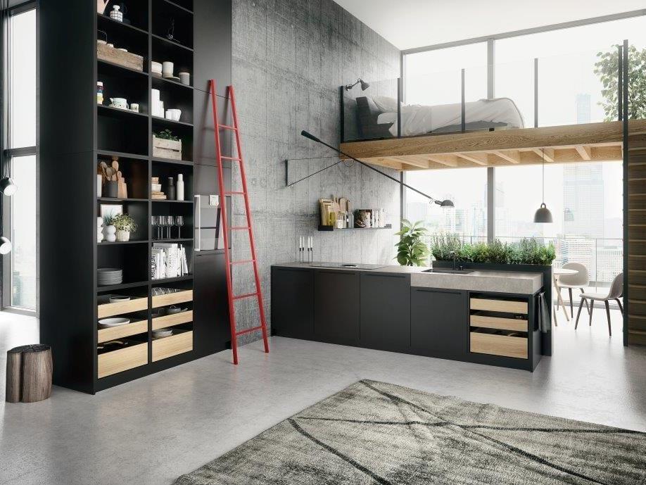 Penisola E Controsoffittatura Interior Design : Cucina con penisola e ...