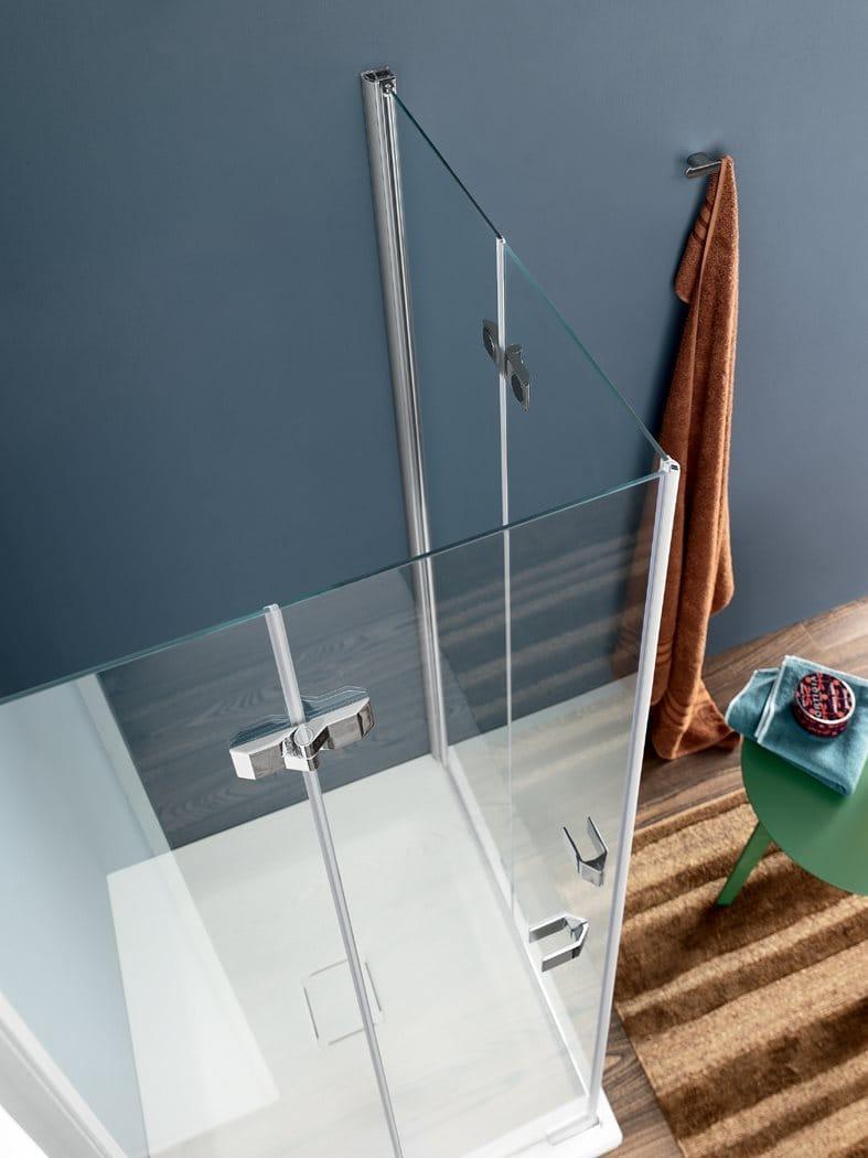 Box doccia in vetro con porta a soffietto SIM - 1 Collezione Sim by INDA® design Studio Inda