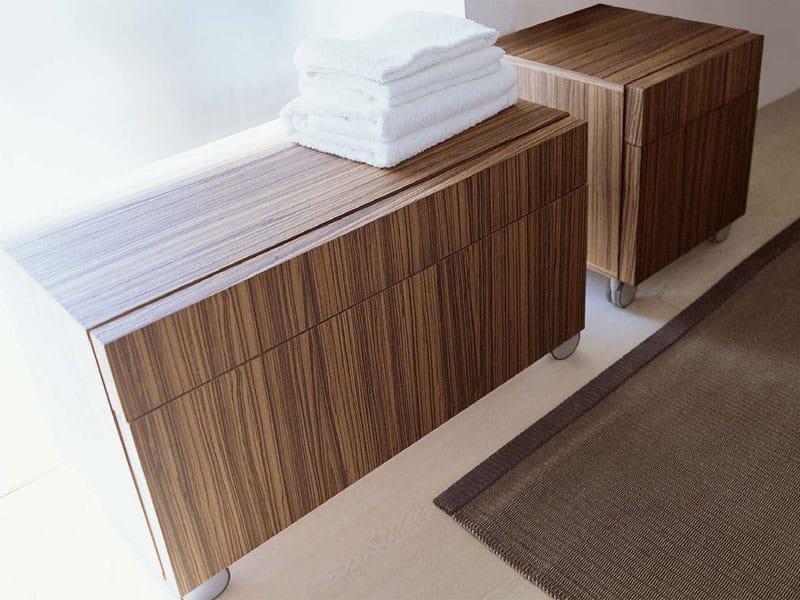 Meuble pour salle de bain avec tiroirs roulettes simple for Tau ceramica meuble salle de bain