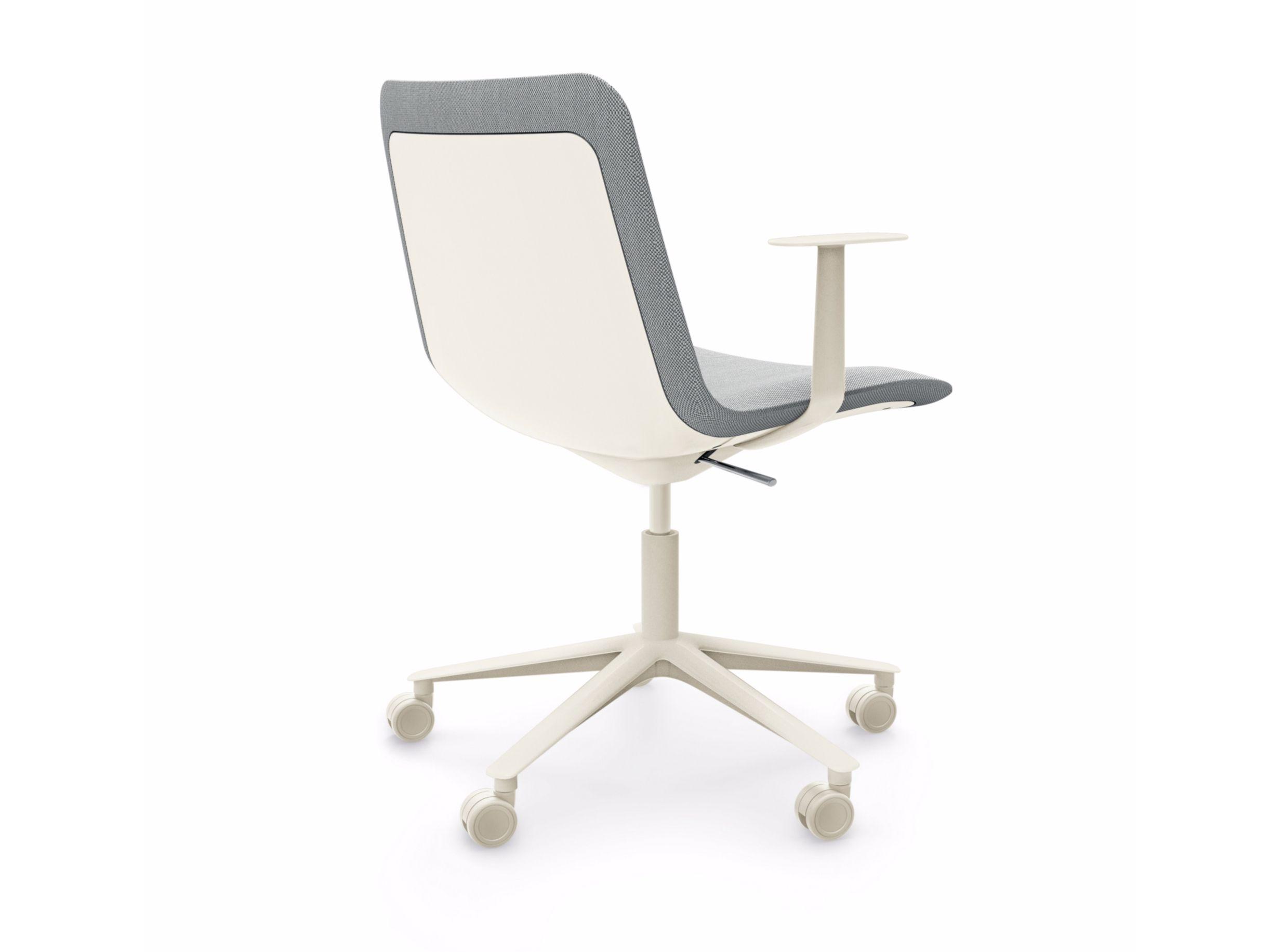 Sedia girevole ad altezza regolabile con braccioli slim for Altezza sedia