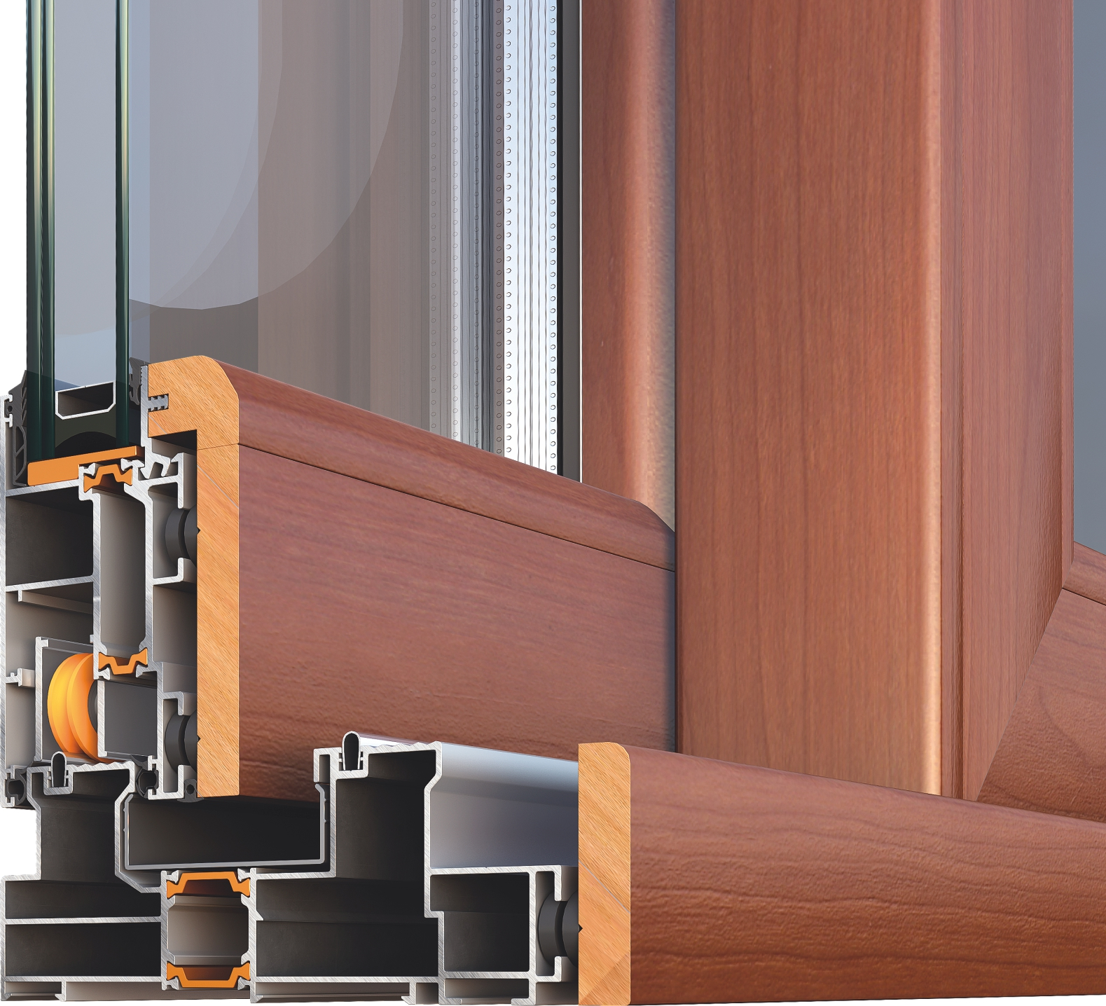 Porta finestra scorrevole smartia m23300 collezione for Finestra esterna scorrevole