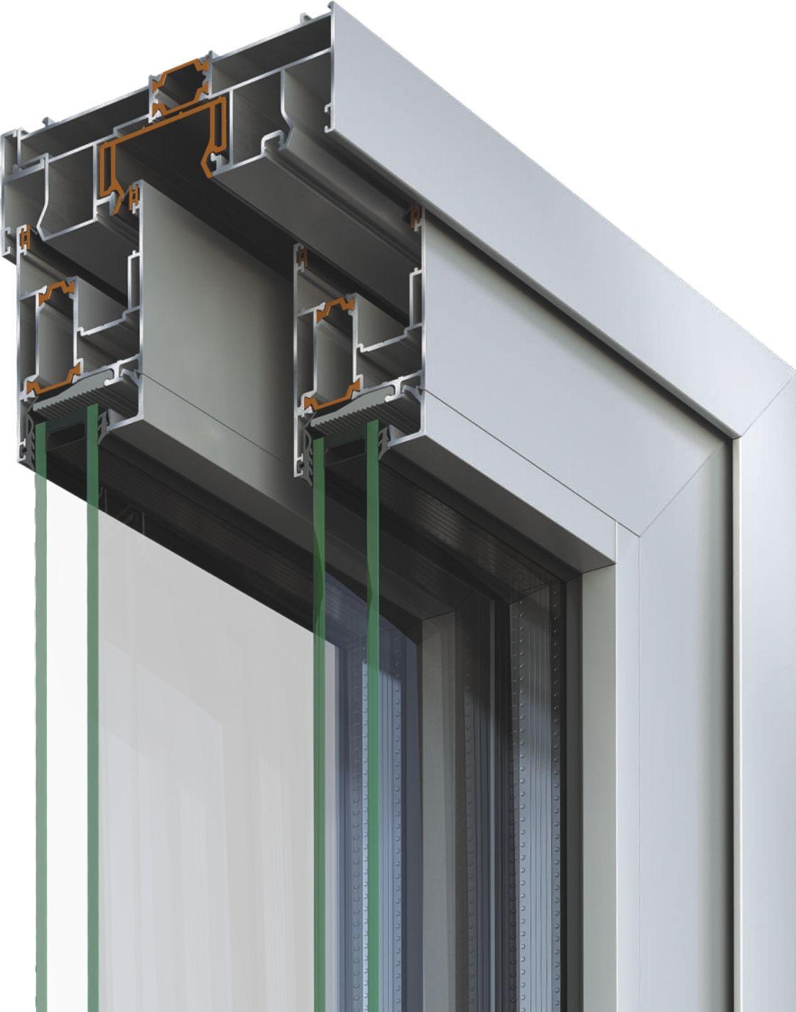 Porta finestra scorrevole smartia s560 collezione smartia - Porta finestra scorrevole esterna ...