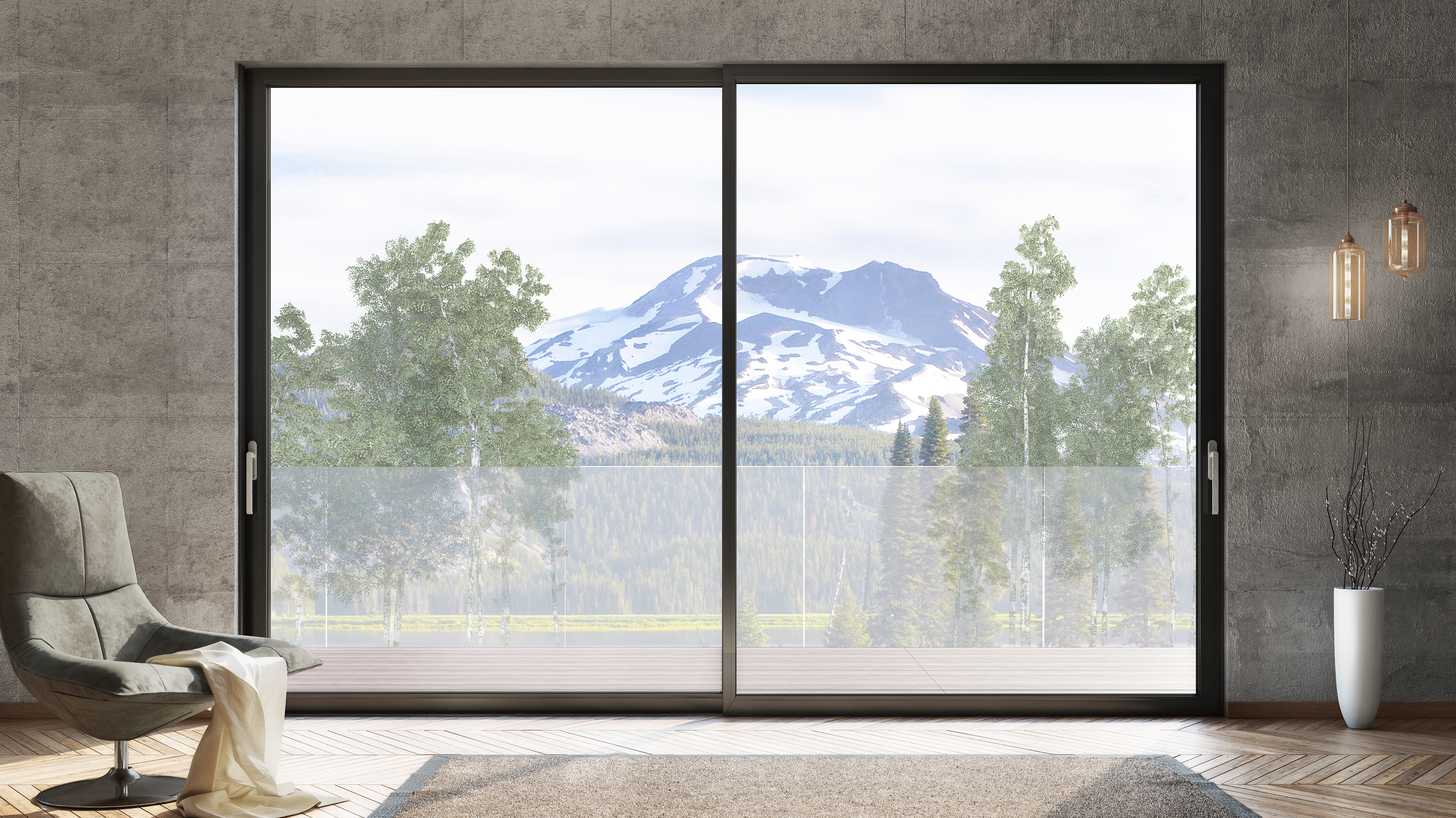 Porta finestra scorrevole smartia s560 collezione smartia - Larghezza porta finestra ...
